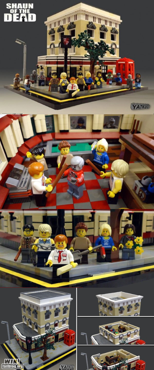 legos movies Shaun Of the dead zombie