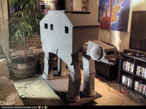 at at,at-at walker,awesome,best of the week,cat condo,cat condos,homes,scratching post,star wars