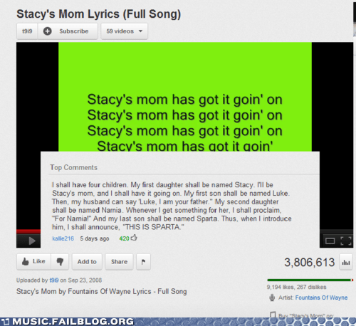 comment,stacys-mom,youtube,youtube comments