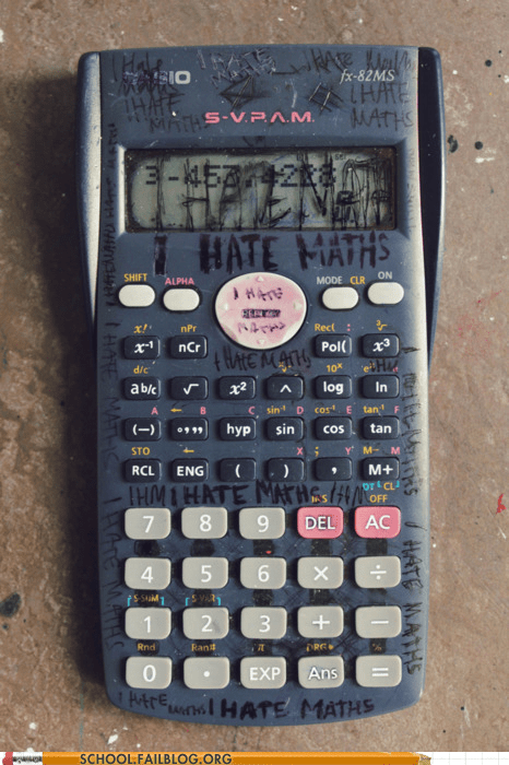 calculators,i hate maths,learn englishes