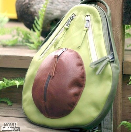 avacado backpack book bag food - 6165073152