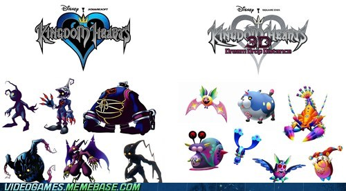 3DS,characters,enemies,heartless,kingdom hearts,the feels