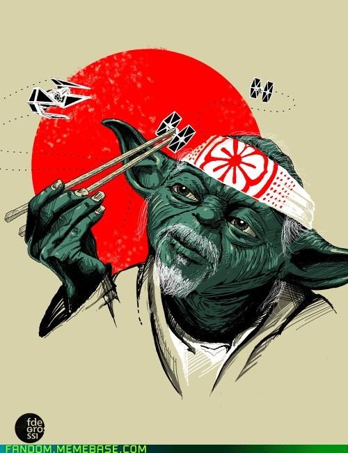 crossover Fan Art mr miyagi star wars yoda - 6165148672
