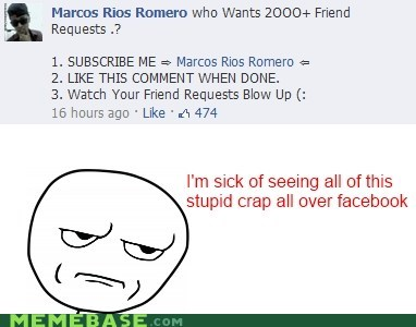 facebook like Rage Comics stop it subscribe