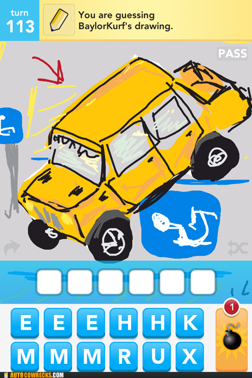 bad parking draw something handicap space hummers - 6165218048