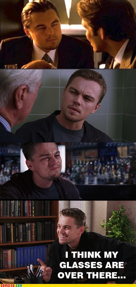 From the Movies,glass,leonardo dicaprio,look,movies,squint