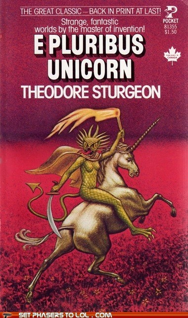 book covers,books,cover art,lizard man,science fiction,unicorn,wtf