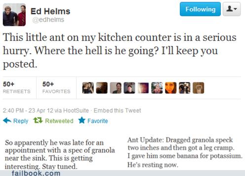 ants bugs ed helms tweet twitter - 6165409792