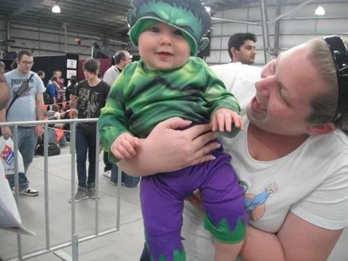 Babies cosplay cute cosplayer hulk superheroes - 6165422336