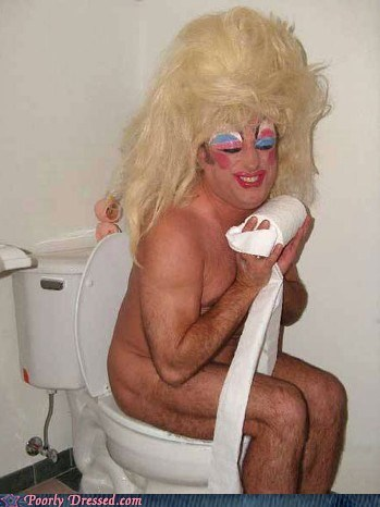 makeup nice face on the toilet