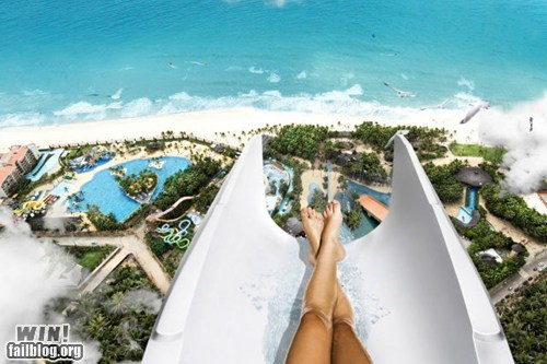 awesome,beach,view,water parks,water slide