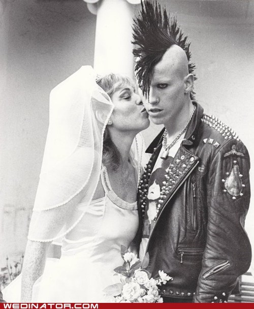 bride,funny wedding photos,punk