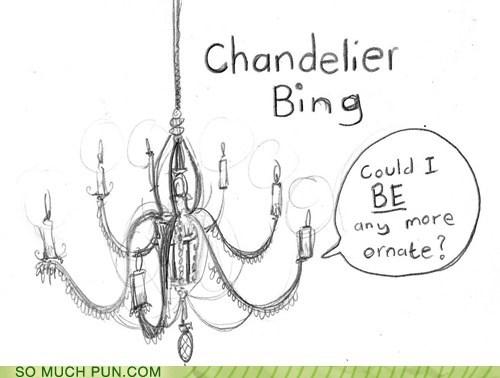 chandelier chandler bing friends Hall of Fame literalism similar sounding