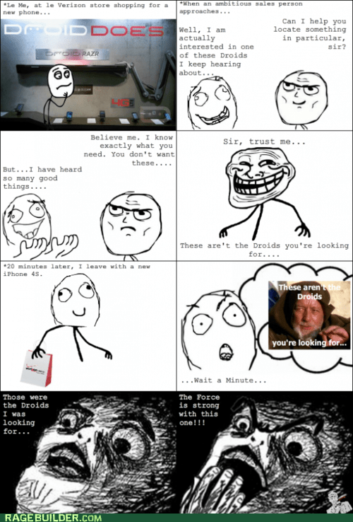 4g,droids,Luke,phones,Rage Comics,star wars