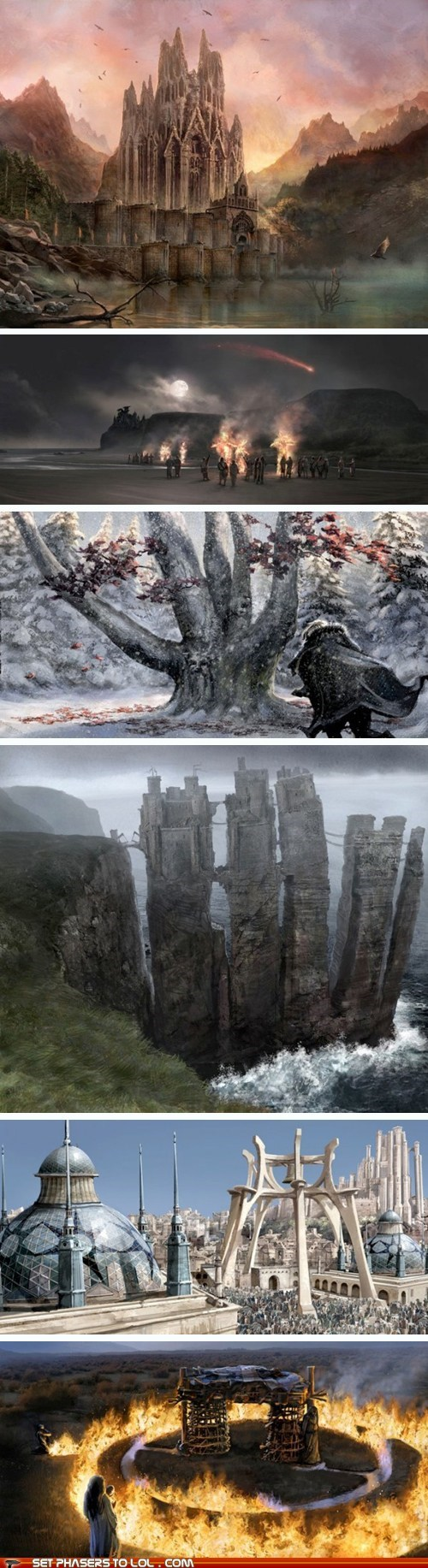 a song of ice and fire beautiful concept art Game of Thrones hbo Westeros