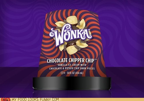 chocolate ice cream new potato chips wonka