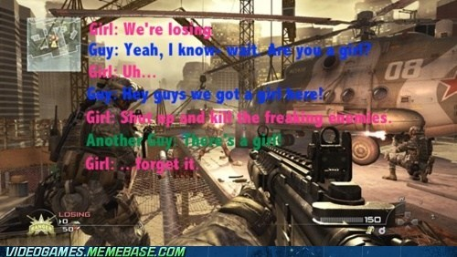 annoying call of duty gamer girls messaging the internets - 6166035712