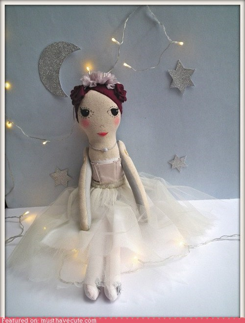 ballerina cloth doll girl soft tutu - 6166052096