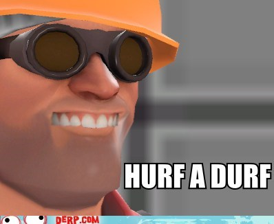 derp,engineer,teeth,TF2,video game