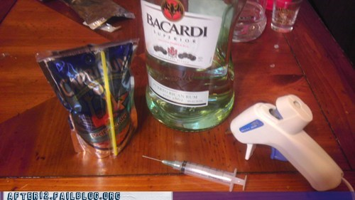 bacardi,capri sun,syringe