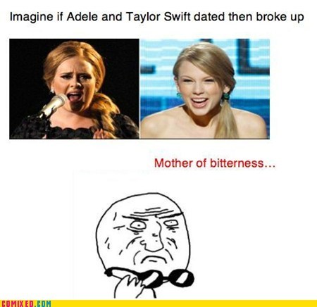 adele,bitter,mother of god,taylor swift,the internets