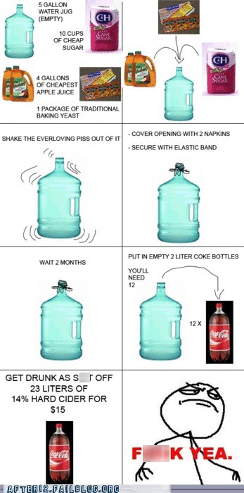 cane sugar cider coke bottles Hall of Fame hard cider jug water cooler water jug - 6166143744