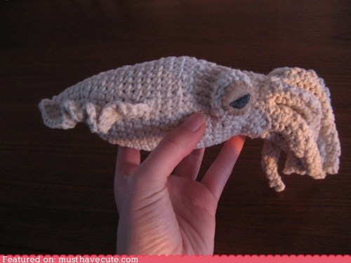 Amigurumi cephalopod craft Crocheted cuttlefish DIY pattern yarn - 6166240000