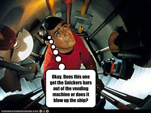 blow up james doohan scotty snickers Star Trek vending machine