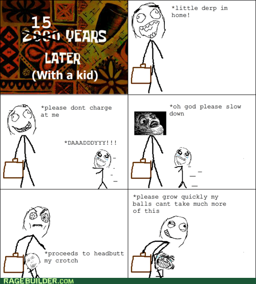 adult balls grow up kids Rage Comics