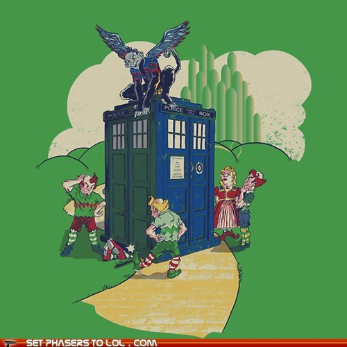 best of the week,doctor who,flying monkeys,mashup,munchkins,tardis,wizard of oz,Yellow Brick Road