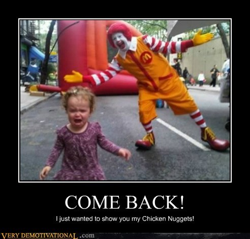 eww hilarious Ronald McDonald scary - 6166889472