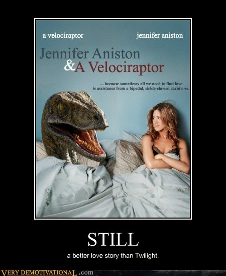 dinosaur,hilarious,jennifer aniston,love story,still