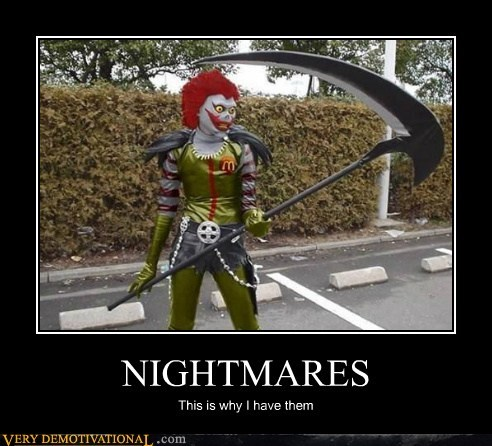 nightmare,Ronald McDonald,Terrifying,wtf