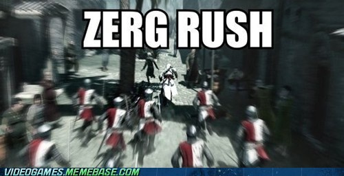 assassins creed,kekeke,meme,zerg rush