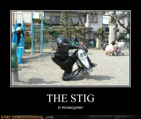 hilarious,kindergarten,school,the stig,wtf