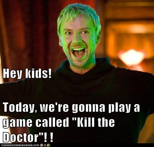 doctor who,john simm,kids,kill,play a game,smiling,the doctor,the master