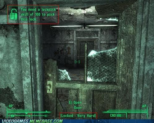 100 broken door fallout lockpick logic the feels very hard - 6168568320