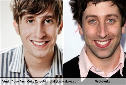 """And..."" guy from Coke Zero Ad Totally Looks Like Wolowitz"
