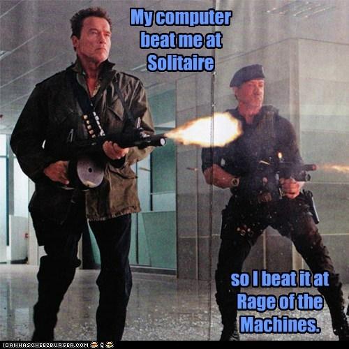 actor Arnold Schwarzenegger celeb funny Sylvester Stallone - 6168987648