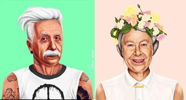 world art history modern hipsters Reimagination leaders - 6169349