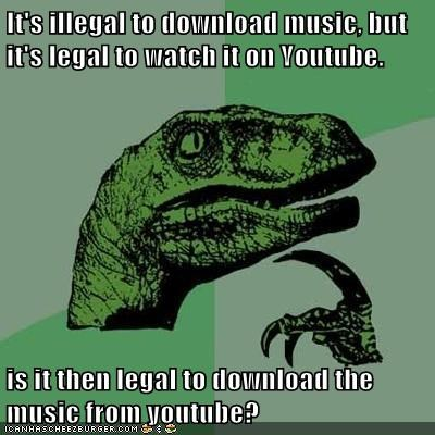 youtube music download illegal