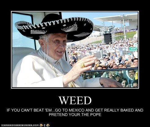 marijuana,mexico,political pictures,pope,weed
