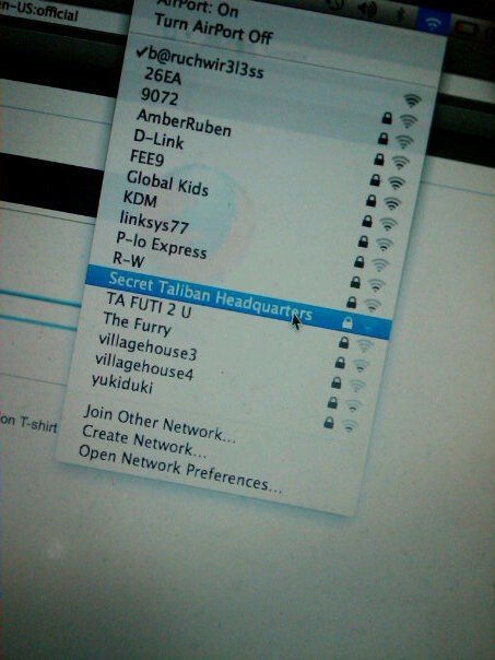 internet,router name,secret headquarters,the taliban