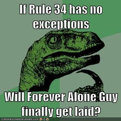 forever alone,philosoraptor,Rule 34