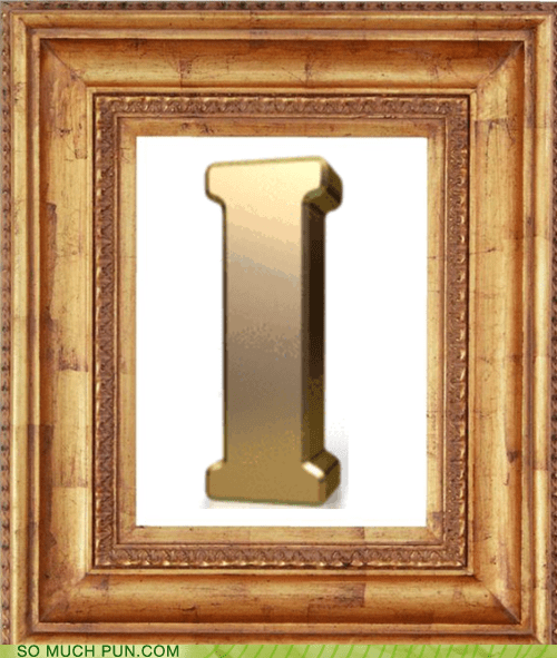 double meaning exclamation framed I letter literalism - 6172273408