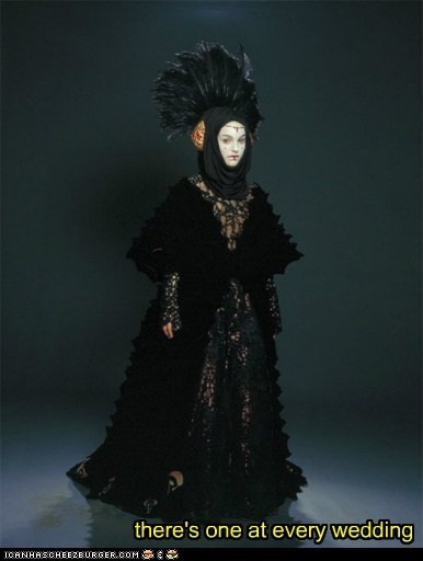 black dress fashion goth natalie portman padme queen amidala star wars wedding - 6172465664