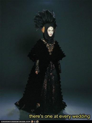 black dress fashion goth natalie portman padme queen amidala star wars wedding - 6172465664