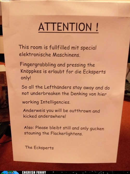 attention engrish funny german Germany g rated Hall of Fame Meanwhile In Germany - 6172636160