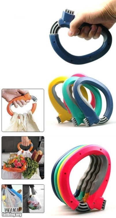 awesome g rated grocery bags handle invention win - 6173518080