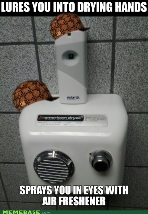 restroom,scumbag hat,hand dryers